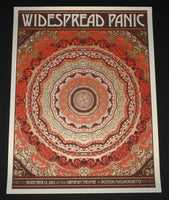 Nate Duval Widespread Panic Concert Poster Boston 2013 Artist Edition S/N