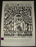 Wes Wilson Grateful Dead Poster San Francisco 1966 Signed Family Dog