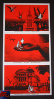 Rob Jones White Stripes Under Amazonian Lights Uncut Postcard Set Poster 2005