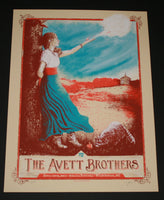 Zeb Love Avett Brothers Poster Wilmington 2013 Artist Edition S/N