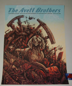 Zeb Love Avett Brothers Poster Duluth 2018 Artist Edition