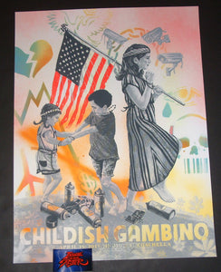 Zeb Love Childish Gambino Coachella Indio Poster Artist Edition 2019
