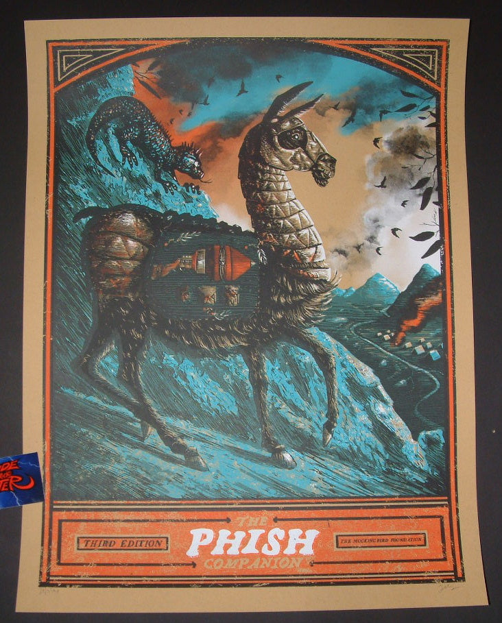 Zeb Love Phish Companion Poster Sunrise Over the Turquoise Mountains 2016