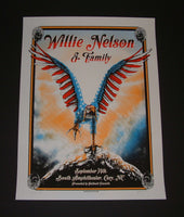 Zeb Love Willie Nelson Family Poster Cary 2013 Artist Edition S/N