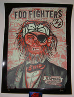Zoltron Foo Fighters Poster Chula Vista Black Mirror Variant 2015