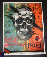 Zoltron Nine Inch Nails San Francisco Poster Artist Edition 2018 Night 2