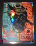 Zoltron Nine Inch Nails San Francisco Poster Rainbow Foil Variant Artist Edition 2018