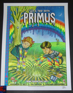 Zoltron Primus Concert Poster Oakland 2017 Artist Edition