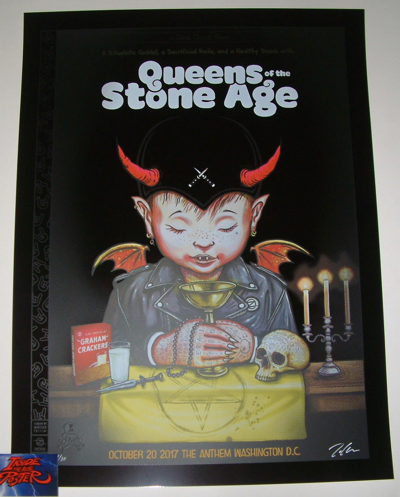 Zoltron Queens of the Stone Age Poster Washington DC Black Mirror Variant 2017