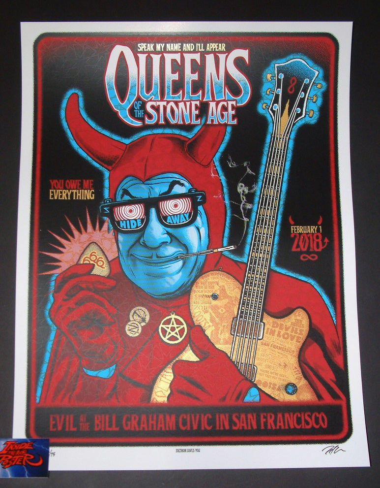 Zoltron Queens of the Stone Age Poster San Francisco 2018 Artist Edition