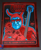 Zoltron Queens of the Stone Age Poster San Francisco Red Mirror Variant 2018