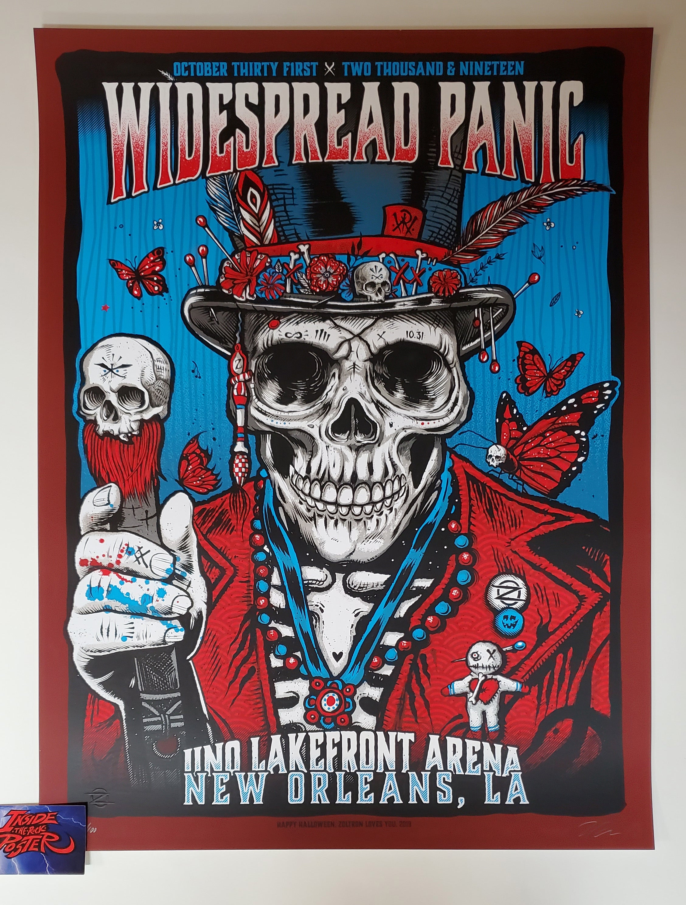 Widespread Panic Poster Halloween 2020 Zoltron Widespread Panic New Orleans Poster Artist Edition 2019