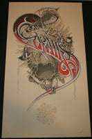 Aaron Horkey Grails Poster San Diego Cream Variant 2009 Artist Edition