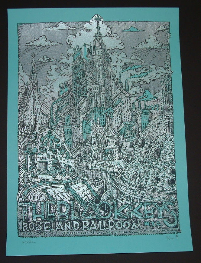 David Welker Black Keys Poster New York 2014 Artist Edition