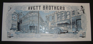 Dig My Chili Avett Brothers Poster Brooklyn Blue Variant 2014 Artist Edition