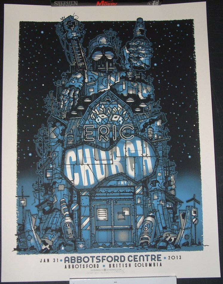 Guy Burwell Eric Church Poster Abbotsford British Columbia 2012 Artist Edition S/N