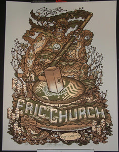 Guy Burwell Eric Church Poster Portland 2012 Artist Edition S/N