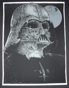 Godmachine Darkest Darth Vader Art Print 2015 Glow in the Dark