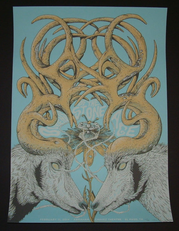 Neal Williams Queens of the Stone Age Poster El Paso 2014 Artist Edition