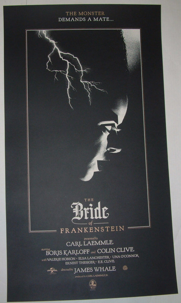 Olly Moss The Bride of Frankenstein Movie Poster 2012 Mondo