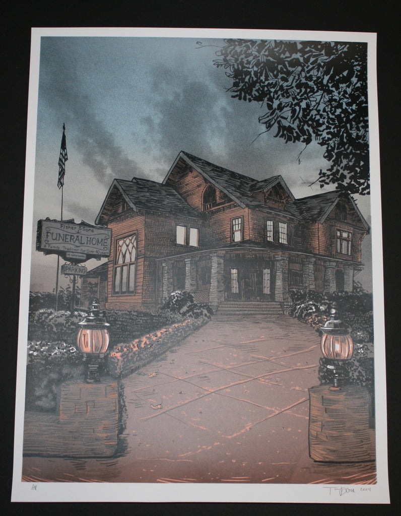 Tim Doyle Fisher Men Six Feet Under Art Print 2014 Artist Proof