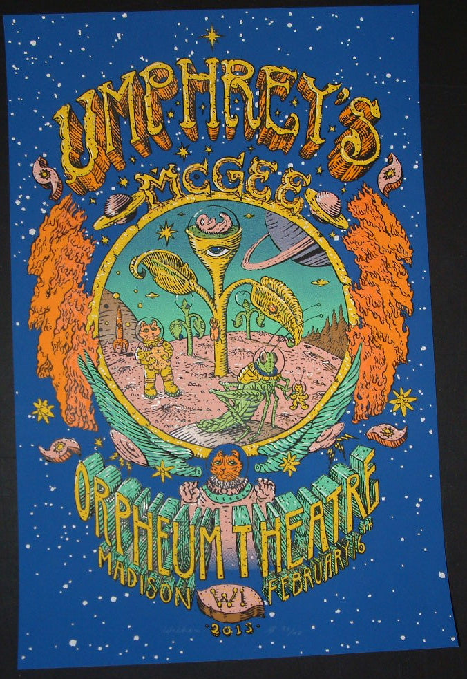 David Welker Umphreys McGee Poster Madison 2012 Artist Proof S/N
