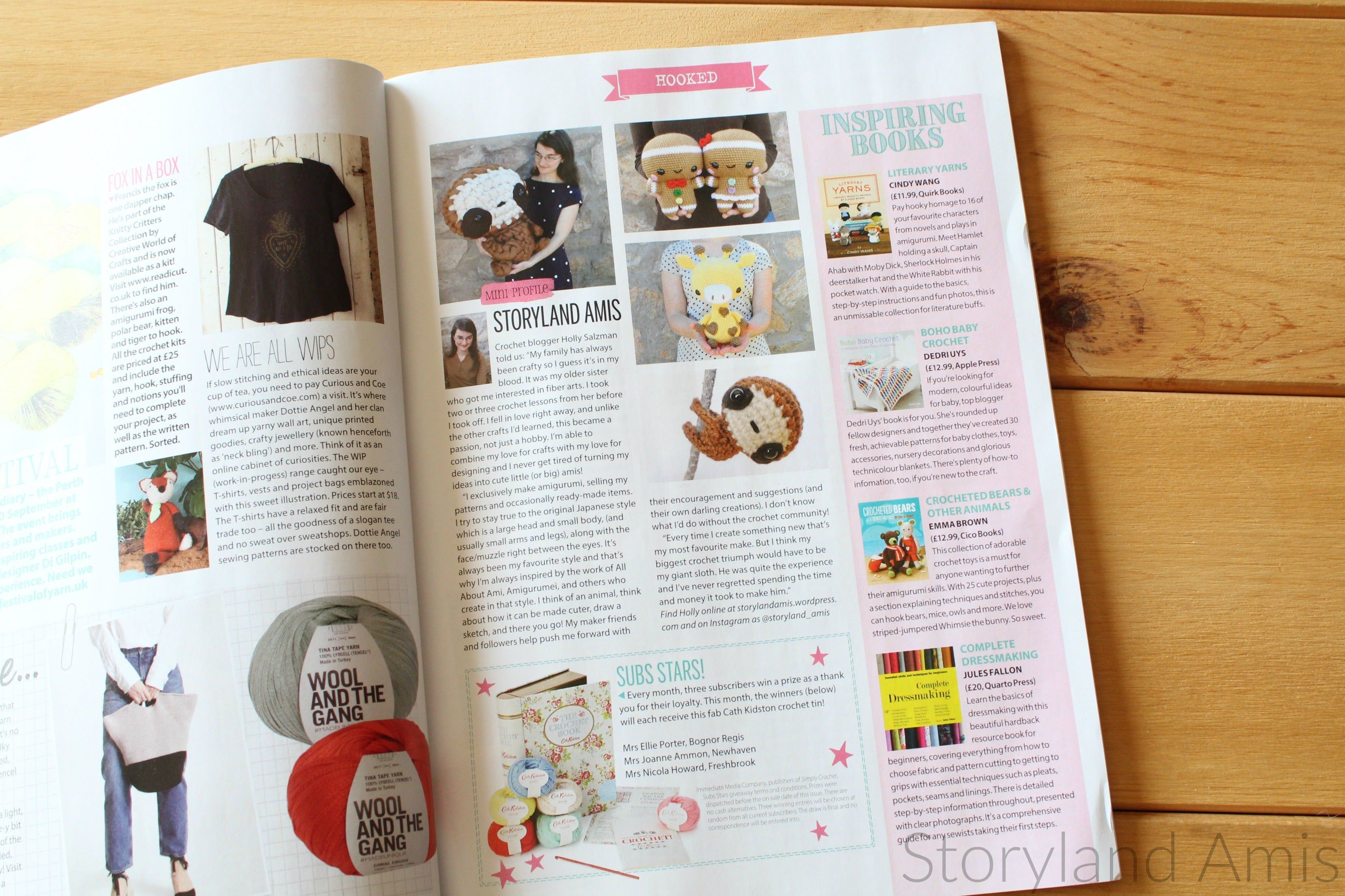 Storyland Amis, Simply Crochet Feature, Giveaway