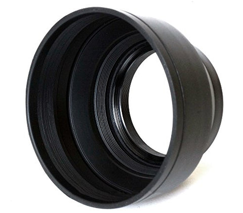 Phot-R® 55mm Rubber Wide-Angle Multi-Lens Hood