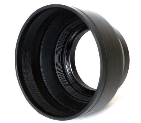 Phot-R® 58mm Rubber Wide-Angle Multi-Lens Hood