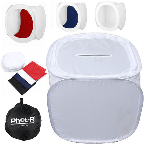 Phot-R® Photographic Light Tent - 50cm x 50cm x 50cm