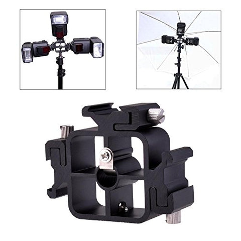 "Phot-R® TriFlash Cold Shoe Mount with 1/4"" Thread Hole"