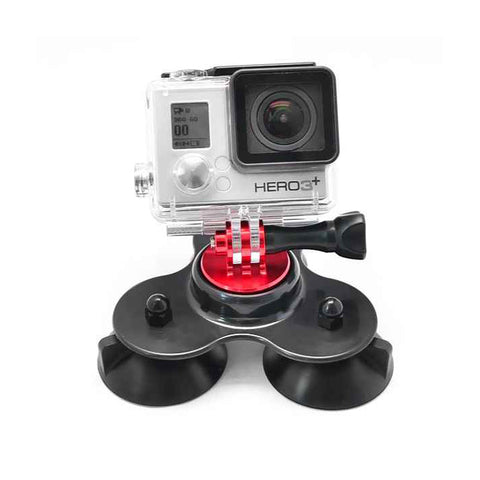Phot-R® Tri Suction Cup Mount for GoPro Hero Action Cameras