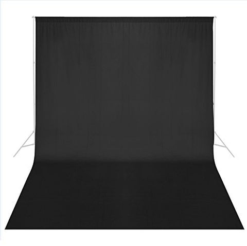 Phot-R® Cotton Muslin Backdrop (3 x 3m, Black)