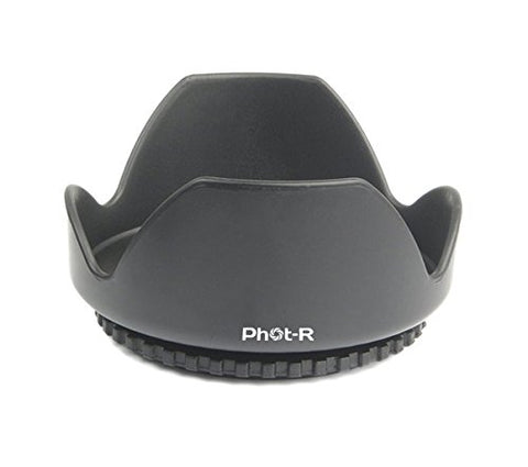 Phot-R® 52mm Flower Petal Screw-On Lens Hood