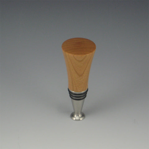 Bottle Stopper (Cherry & Stainless Steel)