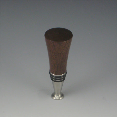 Bottle Stopper (Walnut & Stainless Steel)