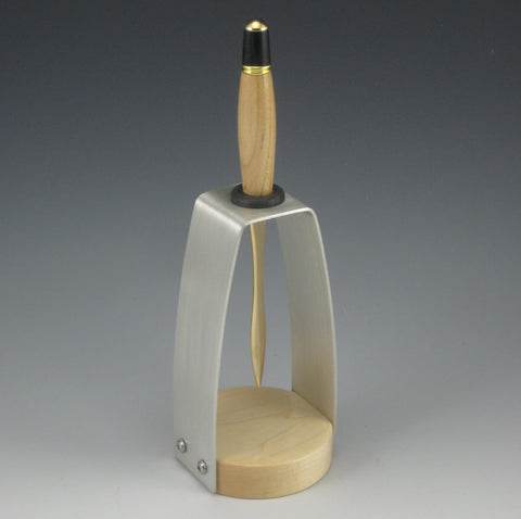 Maple & Gold Letter Opener with Maple & Pewter Holder