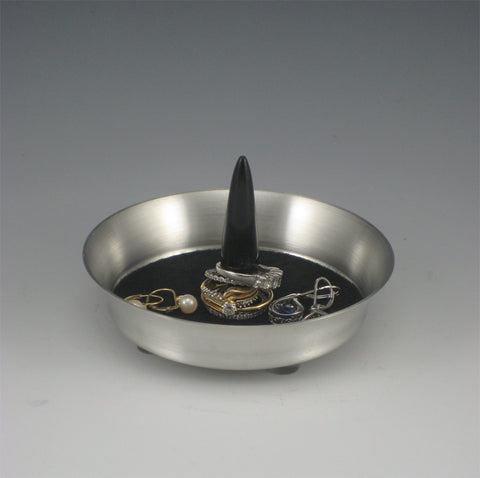 Pewter and Acrylic Ring Dish