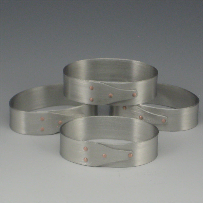 Shaker Pewter Napkin Rings (Set of 8)