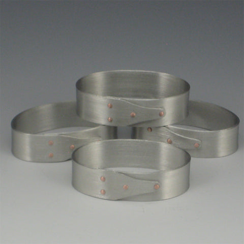 Shaker Pewter Napkin Rings (Set of 4)