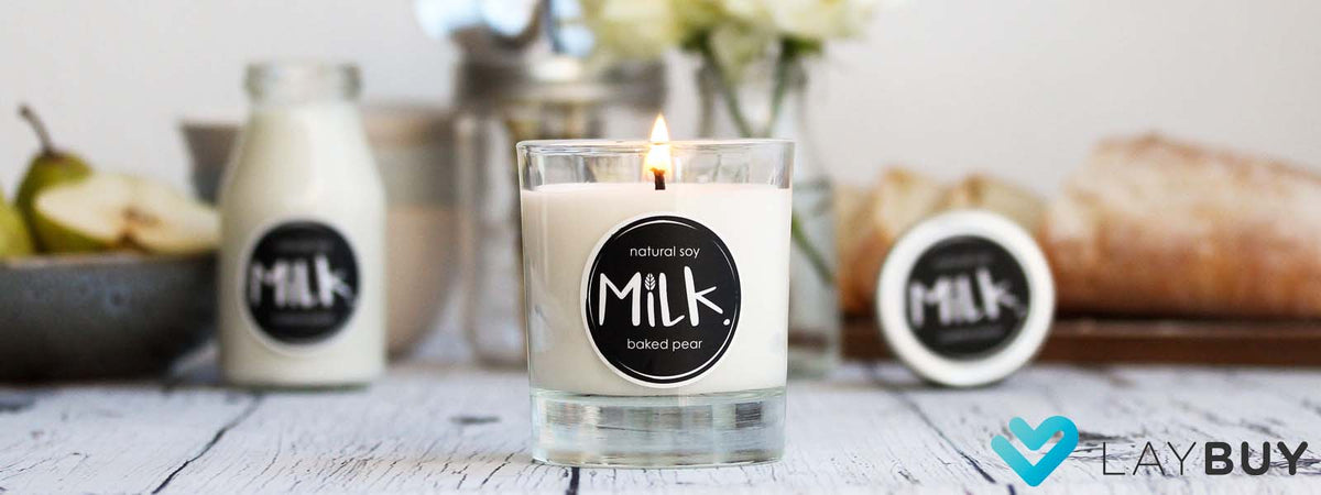 studio milk candles wax melts diffusers