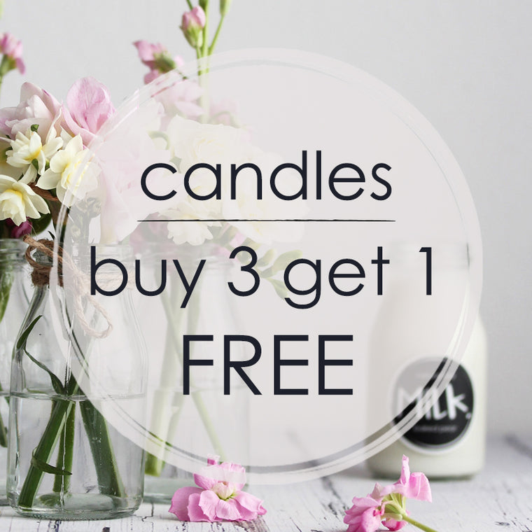candles buy 3 get 1 free
