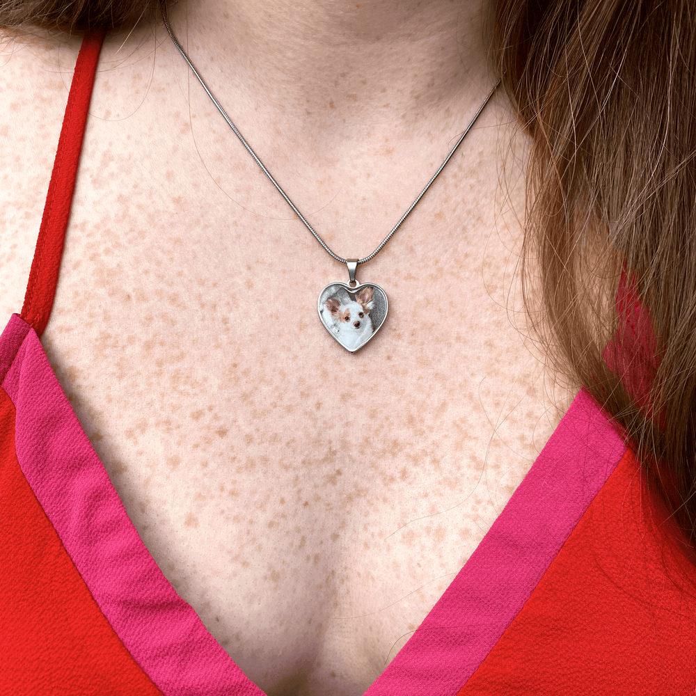 Personalized Heart Photo Necklace