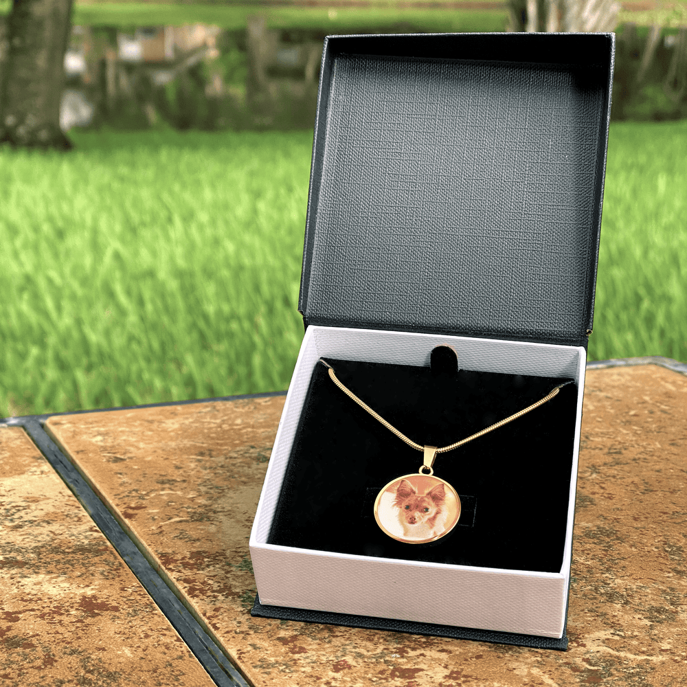 Personalized Circle Photo Necklace