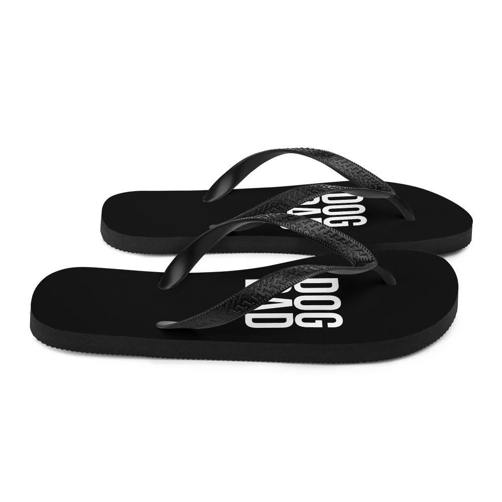 Black Dog Dad Flip Flops