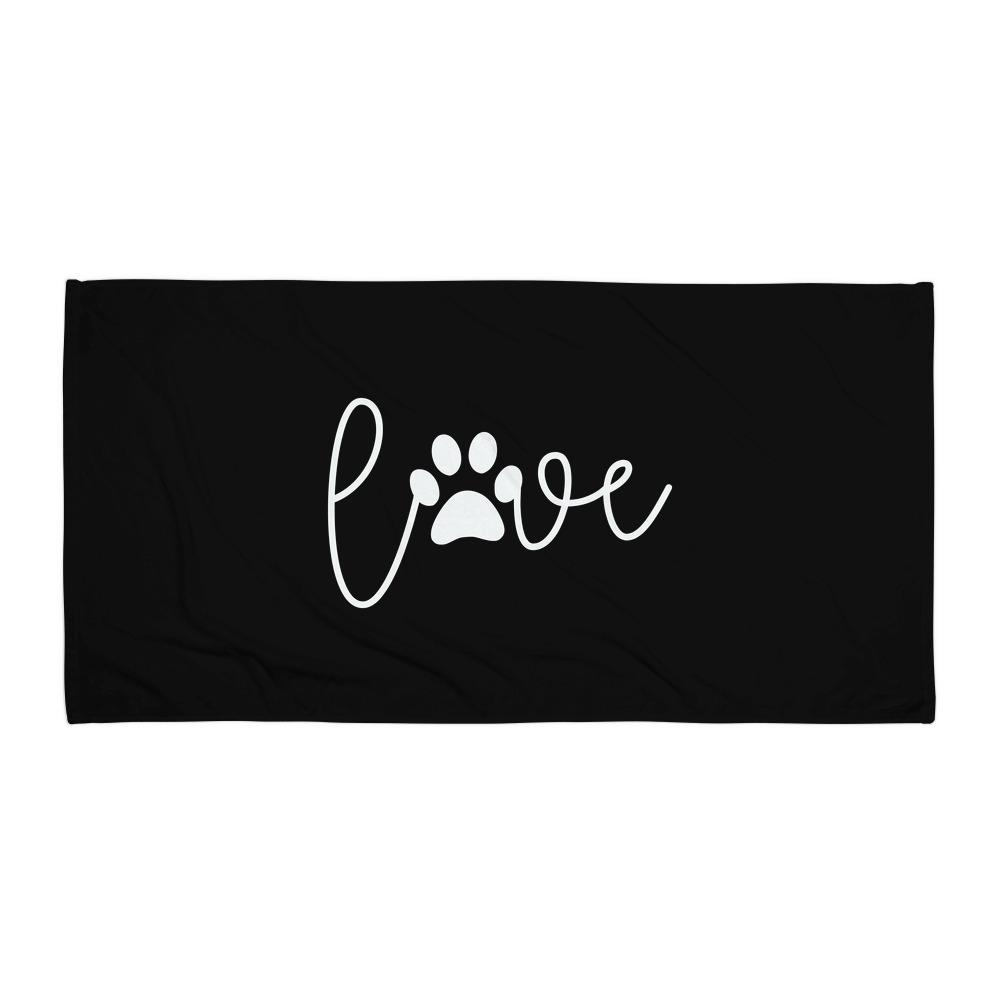 Love Paw Beach Towel