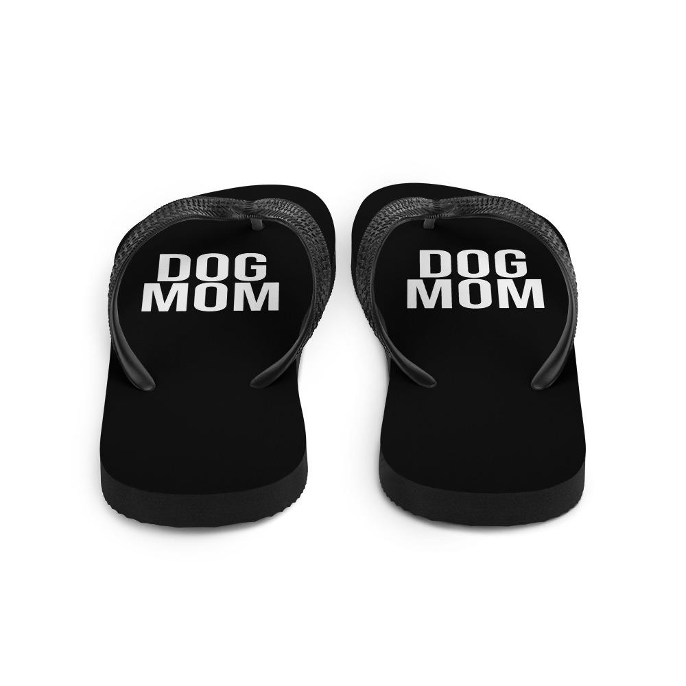 Black Dog Mom Flip Flops