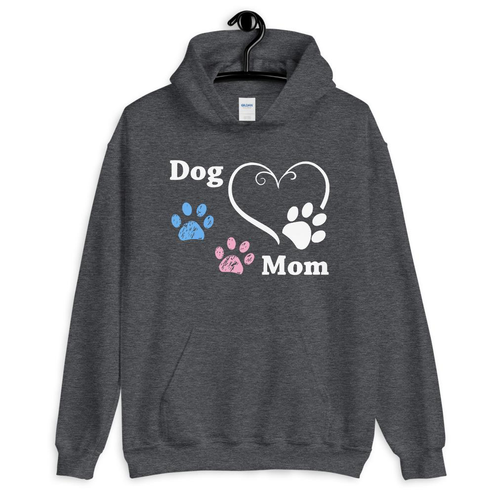 Dog Mom Heart & Paws Hoodie