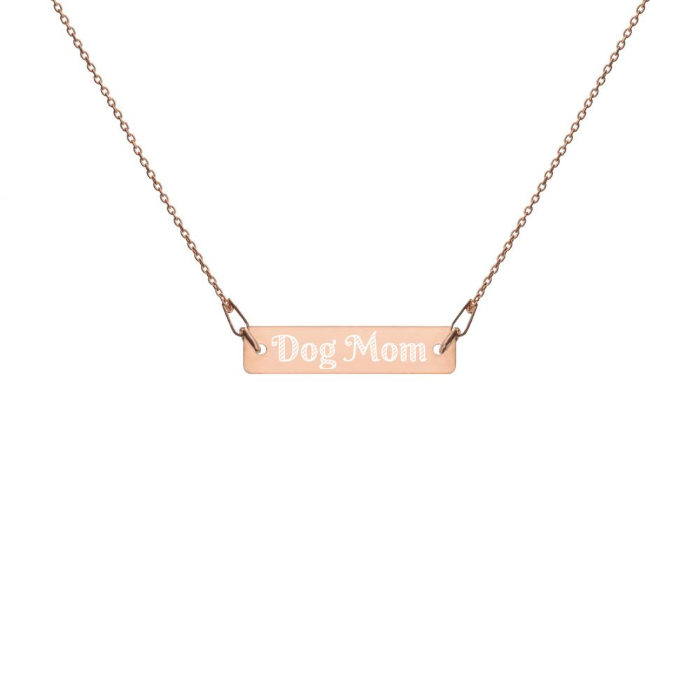 Dog Mom Bar Chain Necklace