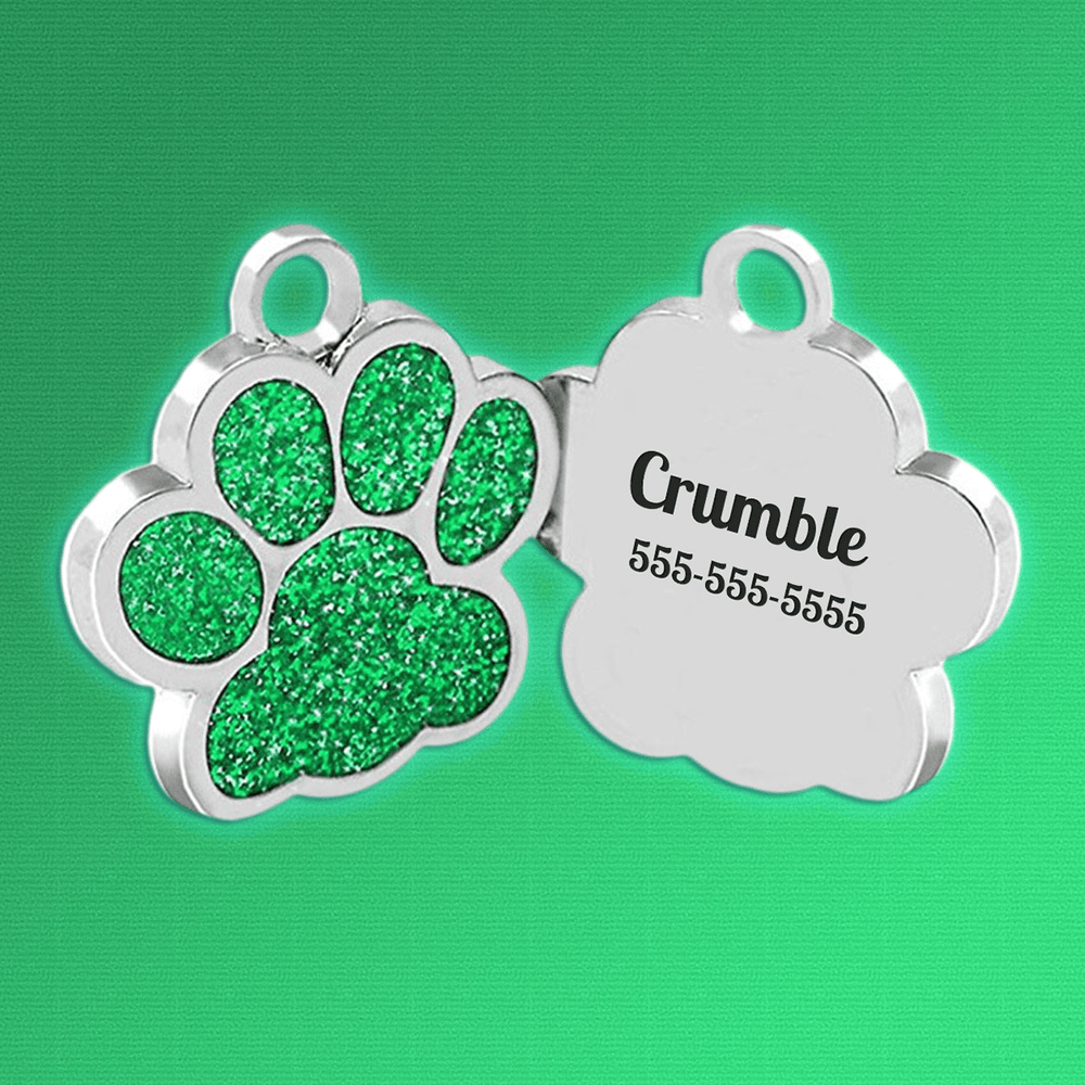 Custom Paw Print Dog Tag